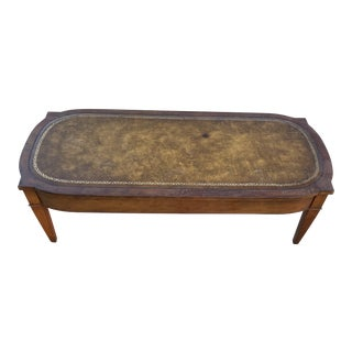 1940s Leather Coffee Table For Sale