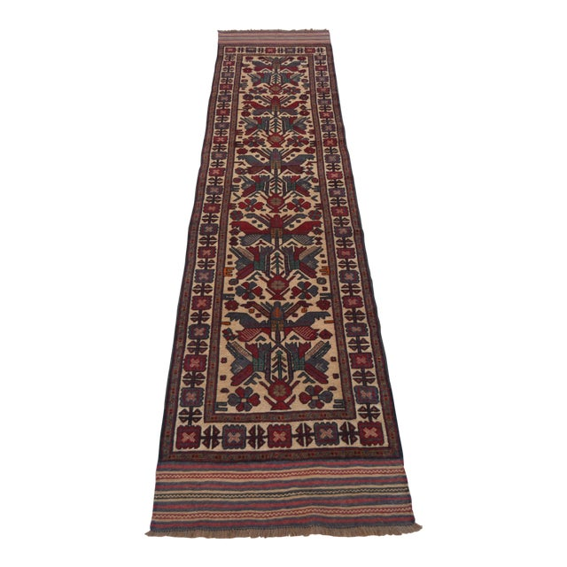 "Vintage Turkish Kilim Rug Runner - 2'7"" x 11'10"" For Sale"
