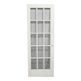 White Fifteen Panel French Door