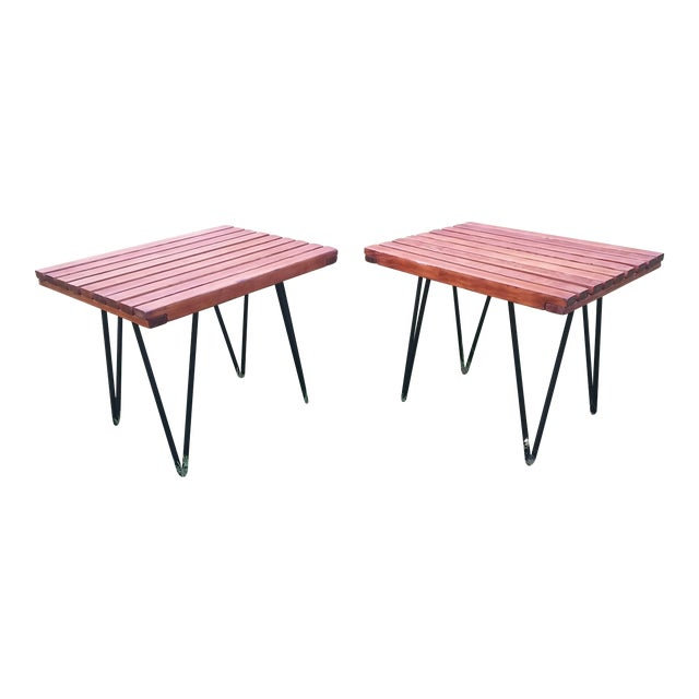 1950s Mid-Century Modern Pipsan Saarinen Swanson Side Tables - a Pair For Sale