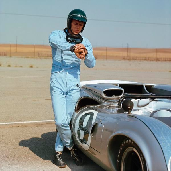Steve McQueen With His Lola Race Car Print For Sale