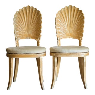20th Century Nautical Shell Back Chairs - a Pair For Sale