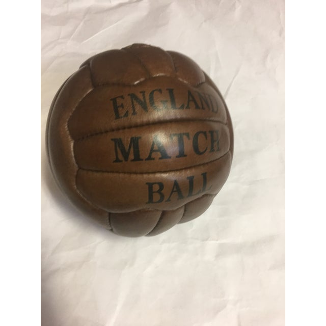English Soccer Match Leather Ball - Image 8 of 9