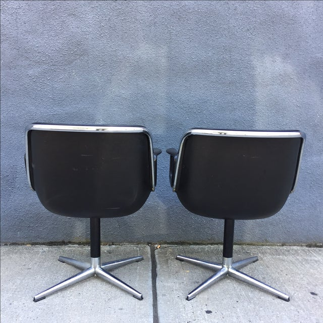 Lounge Chairs by Charles Pollock for Knoll - Pair - Image 5 of 10
