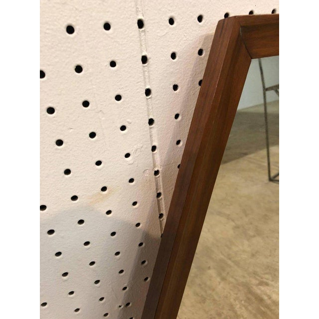 Mid-Century Modern Pair of Walnut Diamond Mirrors For Sale - Image 3 of 4