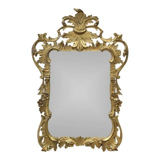 Antique French Rococo Giltwood Mirror For Sale