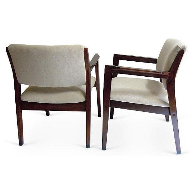 Mid-Century Armchairs - Set of 3 - Image 4 of 5