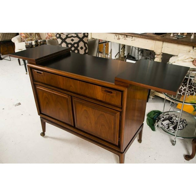 Mid-Century Custom Flip-Top Bar Cabinet - Image 6 of 10