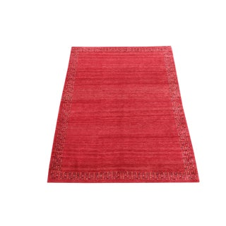 "20th Century Traditional Red Gabbeh Lori Baft Rug - 8'5""x6' For Sale"