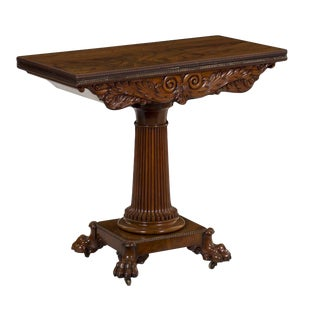 William IV Mahogany Antique Game Table, Circa 1830 For Sale