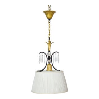 French Silk Shade Pendant For Sale