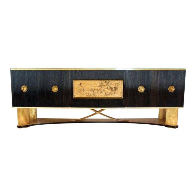 1940s Mid-Century Modern Osvaldo Borsani Extra Long Sideboard For Sale