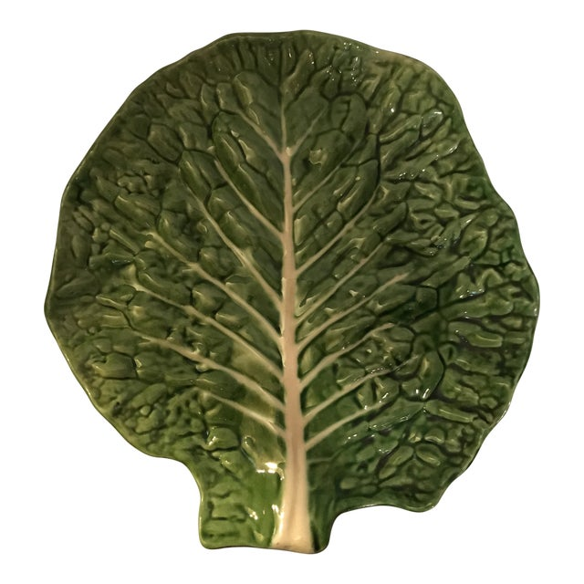 Large Green Cabbage Platter For Sale