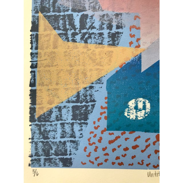 1980s Vintage Abstract Silk Screen Original Art For Sale - Image 5 of 8