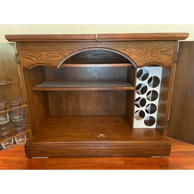 Wood Vintage Brutalist Dry Bar Cabinet For Sale - Image 7 of 12