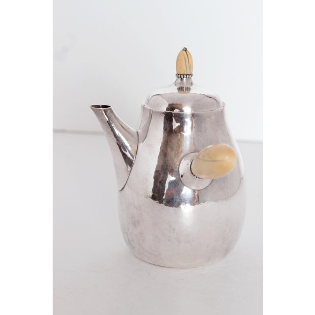 Mid-Century Modern Sterling Silver Coffee Set by Georg Jensen For Sale - Image 3 of 11