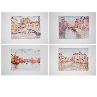 1912 Mortimer Menpes, Venice Original Period Lithographs, Set of 4 For Sale