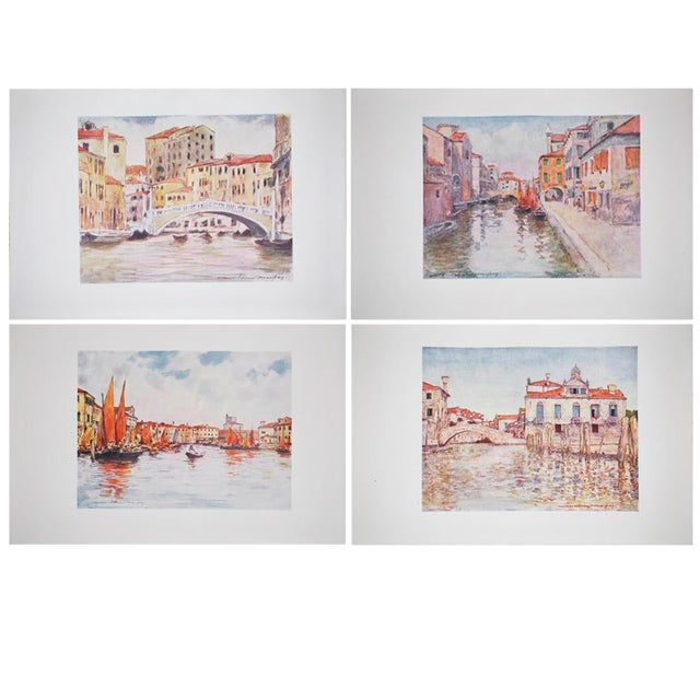 1912 Mortimer Menpes, Venice Original Period Lithographs, Set of 4 For Sale