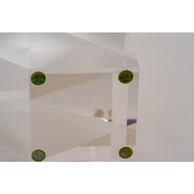 Geometric Form Lucite Sculpture For Sale - Image 9 of 11