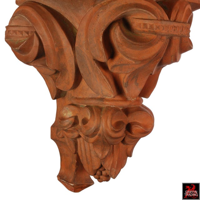 Red Large Terracotta Corbel Wall Bracket For Sale - Image 8 of 11