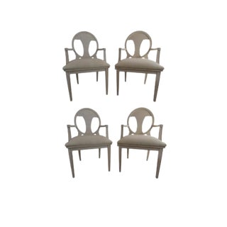 Early 20th Century Vintage Swedish Neoclassical Style Armchairs- Set of 4 For Sale