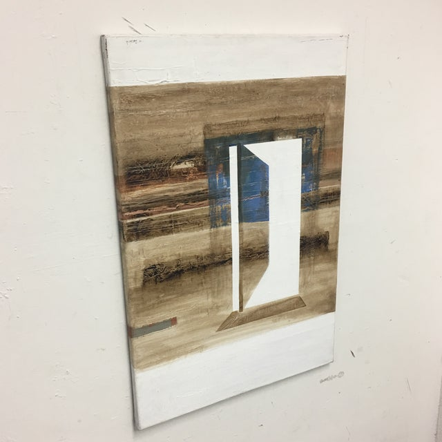 Abstract Claudio Feldman Original Oil on Canvas Painting For Sale - Image 3 of 10