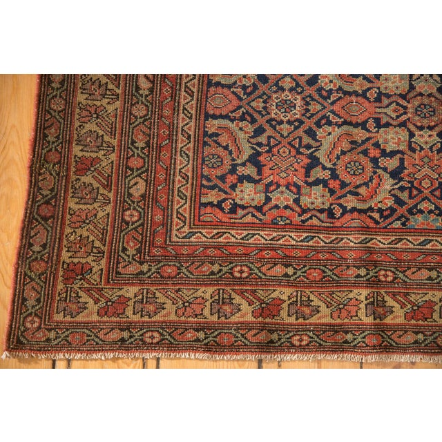 "Antique Mission Malayer Rug - 3'8"" X 5'11"" For Sale - Image 9 of 12"