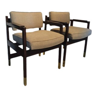 Pair of Architectural Sornay Style Armchairs For Sale