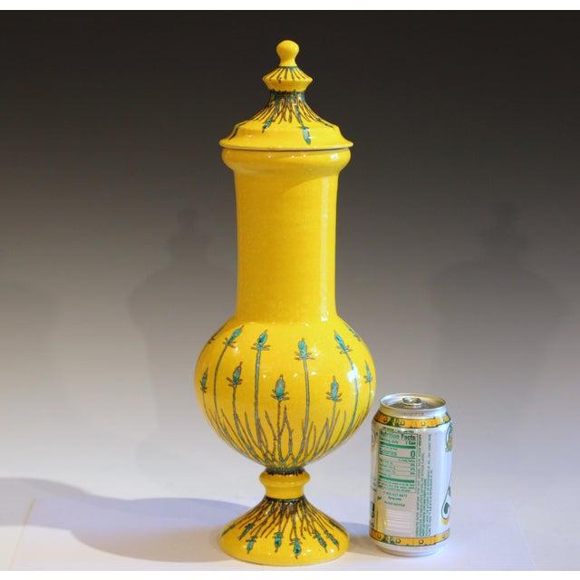 Vintage Italian Mancioli Pottery Yellow Covered Raymor Jar For Sale - Image 10 of 11