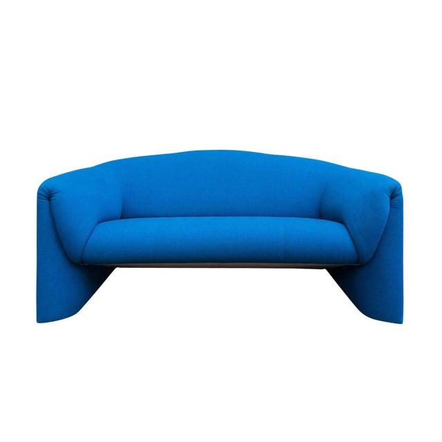 Modern Blue Loveseat by Leolux For Sale