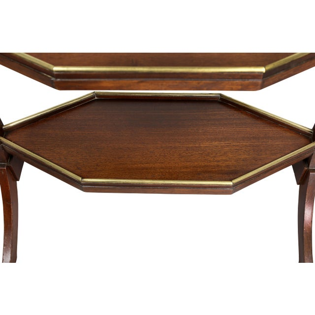 Brass Directoire Mahogany and Brass Mounted Table For Sale - Image 7 of 13