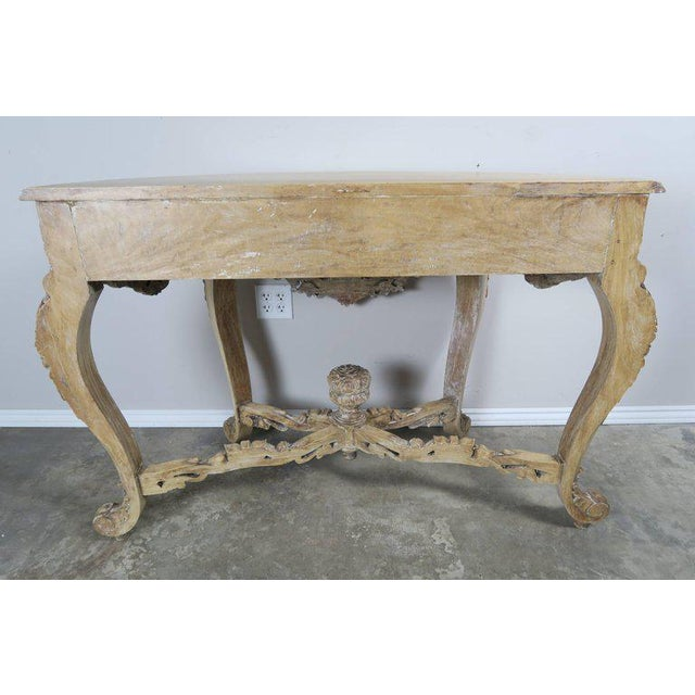 Rococo French Rococo Style Console With Centre Drawer For Sale - Image 3 of 10