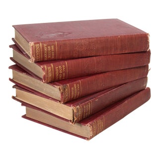 1910 Edition Charles Dickens Books - Set of 5 For Sale