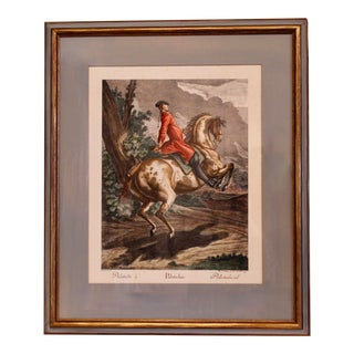 """Pallotade,"" Large Equestrian (Dressage) Engraving by J. E. Ridinger For Sale"