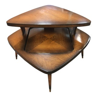 Vintage Gordon's Fine Furniture 1950's Mahogany Tiered Table For Sale