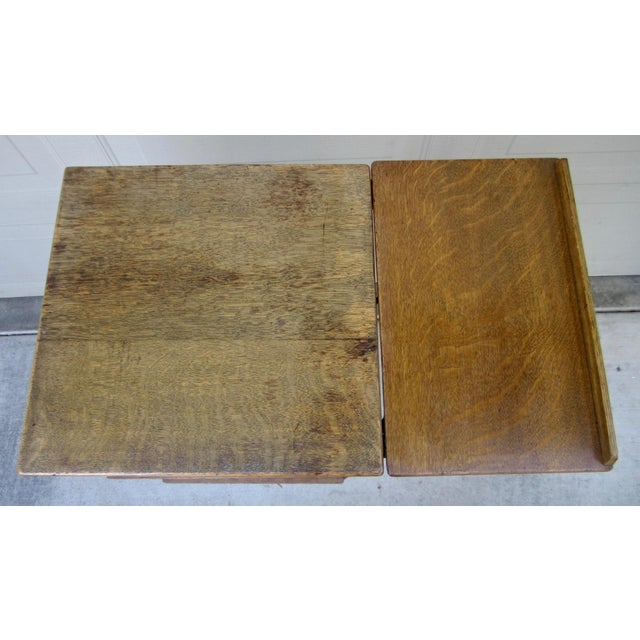 1900s Mid-Century Modern Revolving Swivel Rotating Oak Barrister For Sale - Image 10 of 12