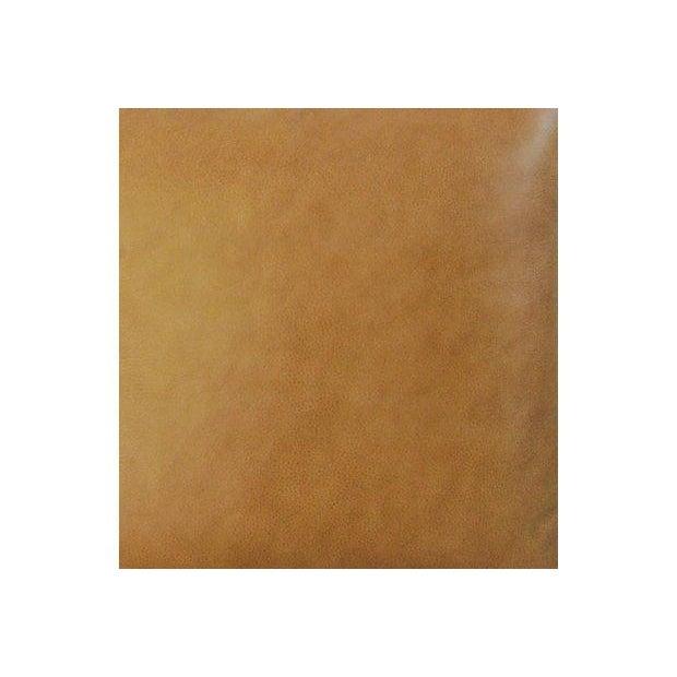 Custom Italian Golden Tan Leather Pillows - A Pair - Image 5 of 5
