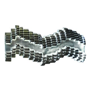 1970s Abstract Marc De Rosny for Daum 'Ondes Brisees' Broken Waves Glass Sculpture For Sale