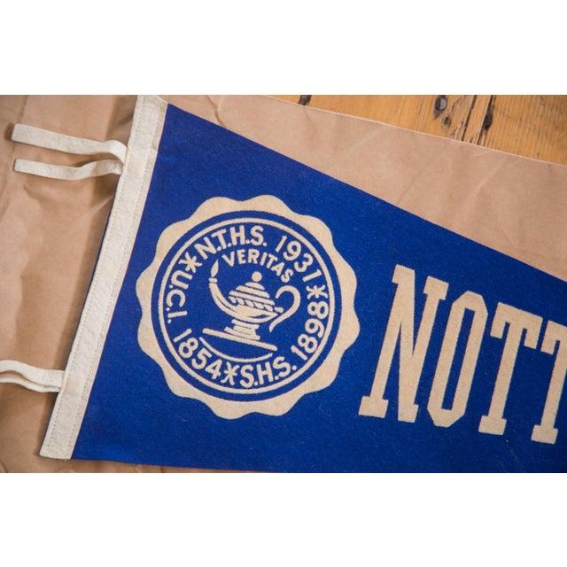 Mid-Century Modern Vintage Nott Terrace High School Felt Flag For Sale - Image 3 of 3