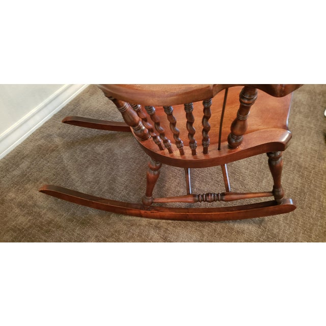 Early 19th Century 19th Century Carved Mahogany Twist Spindle Rocking Chair For Sale - Image 5 of 8