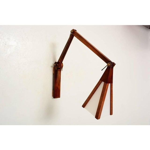 Modern Cocobolo & Walnut Wall Sconce For Sale - Image 3 of 10