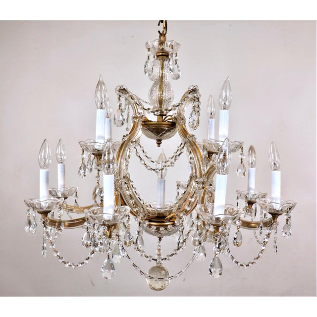 Vintage Maria Theresa Crystal Chandelier For Sale - Image 13 of 13