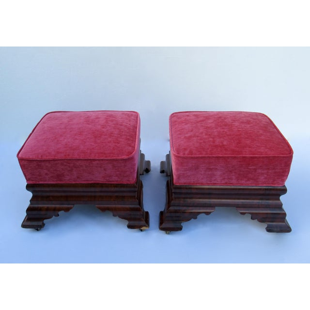 C.1840s-90s, Vintage Joseph Meeks & Sons Mahogany Ottomans - a Pair For Sale In West Palm - Image 6 of 13