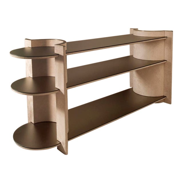 Contemporary Torus Console Shelving, by Robert Sukrachand Made in Usa For Sale
