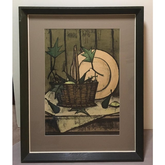 Bernard Buffet is just the quintessence of mid-century style. There is no other like him. The name of this gorgeous hand-...