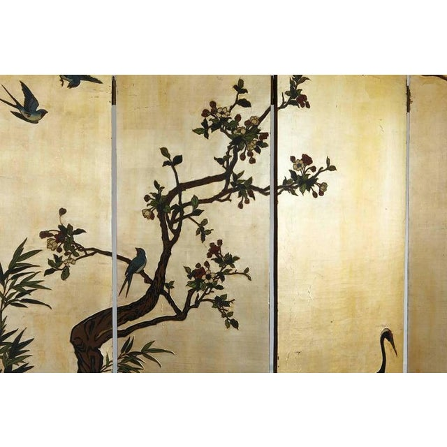 Metal Chinese 12-Panel Double Sided Gold Black Lacquered Coromandel Screen For Sale - Image 7 of 10