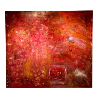 Vintage Oversized Abstract Painting