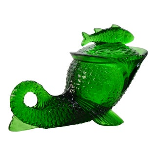 Emerald Green Lidded Fish For Sale