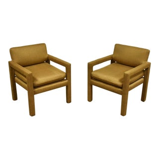 Thayer Coggin Parsons Chairs -A Pair For Sale