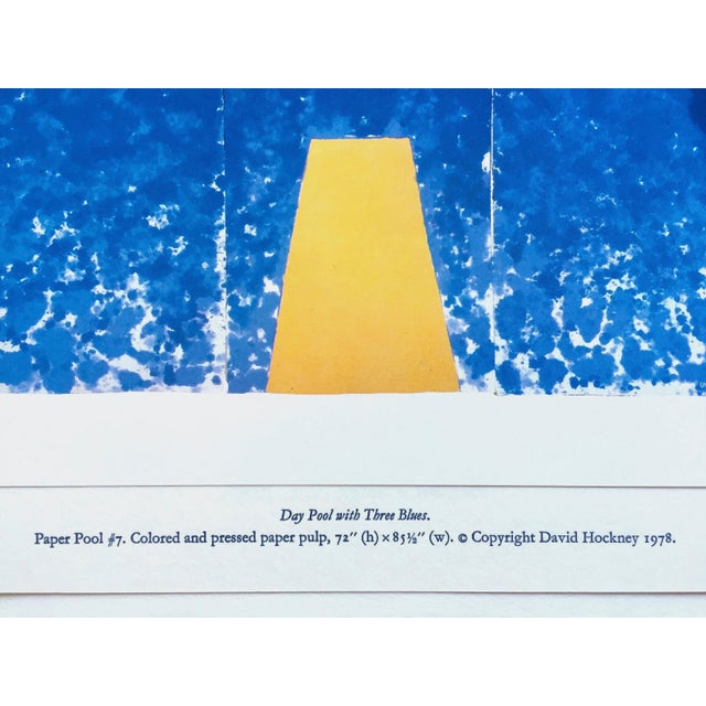"""Paper David Hockney Vintage 1978 Rare Tyler Graphics Iconic Lithograph Print """" Day Pool With Three Blues ( Paper Pool #7 ) """" For Sale - Image 7 of 13"""